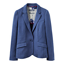 Buy Joules Olivia Herringbone Jersey Blazer, Dark Chambray Online at johnlewis.com