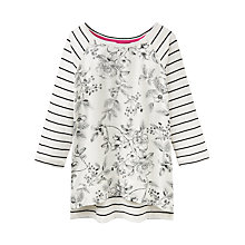 Buy Joules Polly Print Jersey Top, Cream Winterberry Online at johnlewis.com