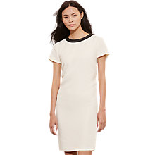 Buy Lauren Ralph Lauren Juneyo Dress, Antique Ivory/Black Online at johnlewis.com