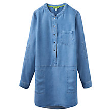 Buy Joules Eden Woven Tunic Shirt, Chambray Online at johnlewis.com