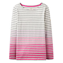 Buy Joules Harbour Ombre Stripe Jersey Top, Pink Ombre Online at johnlewis.com