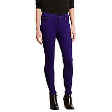 Buy Lauren Ralph Lauren Premier Skinny Jeans, Purple Fusion Online at johnlewis.com