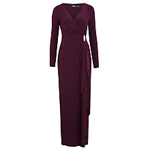 Buy Lauren Ralph Lauren Pascha Jersey Dress, Raisin Online at johnlewis.com