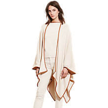 Buy Lauren Ralph Lauren Faux Leather-Trimmed Cape, Natural Sand Online at johnlewis.com