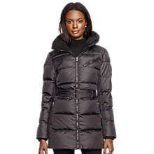 Buy Lauren Ralph Lauren Moto Down Coat, Black Online at johnlewis.com