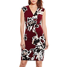 Buy Lauren Ralph Lauren Wilbera Dress, Claret Online at johnlewis.com