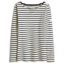 Buy Joules Harbour Stripe Long Sleeve Jersey Top, Black Stripe Online at johnlewis.com