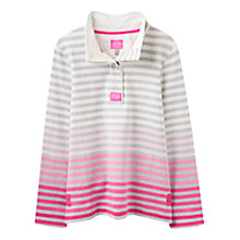 Buy Joules Classic Ombre Stripe Jersey Top, Pink Ombre Online at johnlewis.com