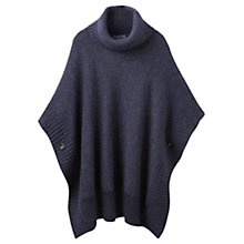 Buy Joules Oriell Roll Neck Poncho, Indigo Marl Online at johnlewis.com