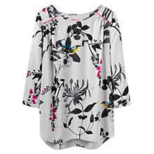 Buy Joules Printed Shell Top, Silver Birdberry Online at johnlewis.com