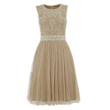 Buy Raishma Pearl Beaded Dress, Coffee Online at johnlewis.com