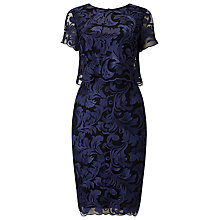 Buy Phase Eight Adelphia Lace Layer Dress, Blue Online at johnlewis.com