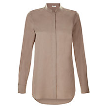 Buy Hobbs Vivien Blouse, Mocha Online at johnlewis.com