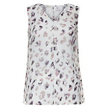 Buy Hobbs Flora Trapeze Top, Ivory/Multi Online at johnlewis.com