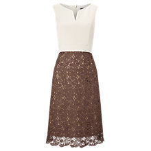 Buy Phase Eight Palmer Dress, Praline/Oyster Online at johnlewis.com