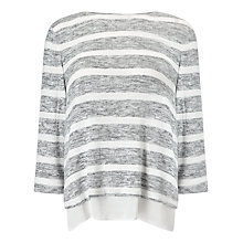 Buy Phase Eight Rae Space Dye Stripe Top, Grey/Ivory Online at johnlewis.com