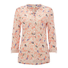 Buy White Stuff Dancing Birds Shirt, Papaya Pink Online at johnlewis.com