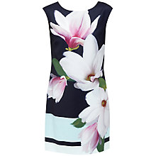 Buy Ted Baker Magnolia Stripe Textured Tunic Dress, Navy Online at johnlewis.com