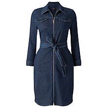 Buy Phase Eight Annabelle Zip Denim Dress, Indigo Online at johnlewis.com
