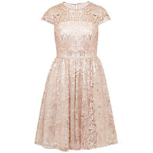Buy Ted Baker Ranita Sheer Bodice Sequin Dress, Gold Online at johnlewis.com