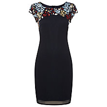 Buy Raishma Cap Sleeved Dress, Navy Online at johnlewis.com