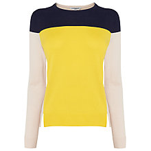 Buy L.K. Bennett Emma Colourblock Knit Top, Yellow Online at johnlewis.com