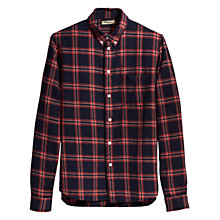 Buy Levi's Plaid Cotton Shirt, Navy/Red Online at johnlewis.com