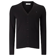 Buy J. Lindeberg Lymac Logo Cardigan, Black Online at johnlewis.com