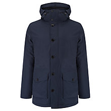 Buy J. Lindeberg Classic Parka Water Resistant Jacket, Dark Navy Online at johnlewis.com