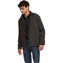 Buy Levi's Made & Crafted Textured Overshirt, Dark Grey Online at johnlewis.com