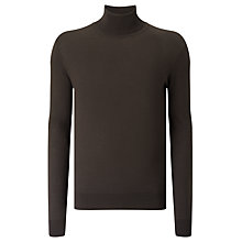 Buy J. Lindeberg Sagon Silk Wool Turtleneck Jumper, Black Online at johnlewis.com
