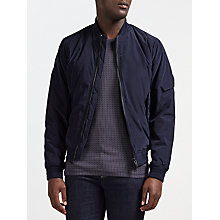 Buy J. Lindeberg Marky Modern Nylon Water Resistant Bomber Jacket, Dark Navy Online at johnlewis.com