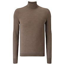 Buy J. Lindeberg Sagon Turtleneck Jumper, Mud Melange Online at johnlewis.com