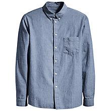 Buy Levi's Made & Crafted Mikutex Chambray Shirt, Mid Wash Online at johnlewis.com