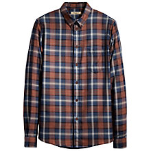 Buy Levi's Made & Crafted Plaid Shirt, Blue/Camel Online at johnlewis.com