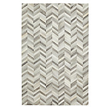 Buy John Lewis Cowhide Chevron Rug Online at johnlewis.com