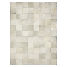 Buy John Lewis Cowhide Tiles Rug, White Online at johnlewis.com