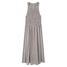Buy Mango Flower Print Dress, Natural White Online at johnlewis.com