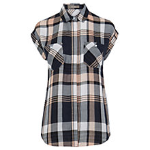 Buy Oasis Roll Sleeve Check Shirt, Multi Online at johnlewis.com