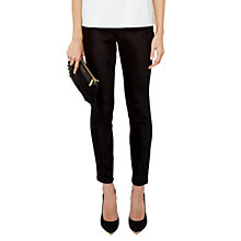 Buy Ted Baker Velvet Skinny Denim Trousers, Black Online at johnlewis.com