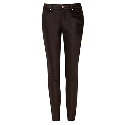 Ted Baker Velvet Skinny Denim Trousers Black