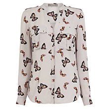 Buy Oasis Butterfly Shirt, Multi/Grey Online at johnlewis.com