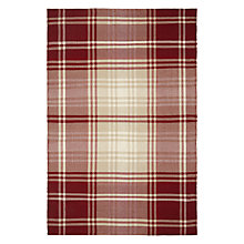 Buy John Lewis Ruskin Plaid Rug, Red Online at johnlewis.com