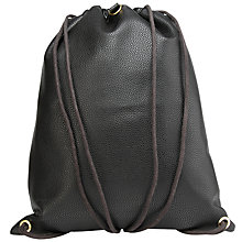 Buy Mi-Pac Tumbled Kit Bag, Black Online at johnlewis.com