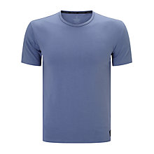 Buy Calvin Klein Liquid Cotton Crew Neck T-Shirt, Blue Online at johnlewis.com