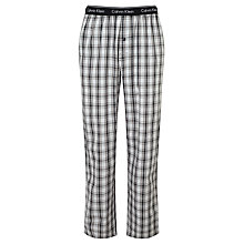 Buy Calvin Klein Crosby Check Lounge Pants, Black Online at johnlewis.com