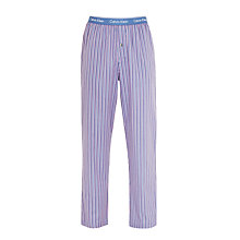 Buy Calvin Klein Woven Stripe Lounge Pants, Blue Online at johnlewis.com