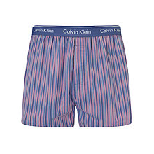 Buy Calvin Klein Underwear Woven Stripe G Boxers Online at johnlewis.com
