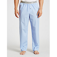 Buy Calvin Klein Woven Haddley Check Lounge Pants, Blue Online at johnlewis.com