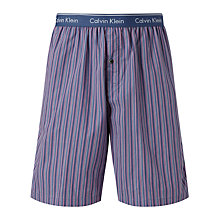 Buy Calvin Klein Woven Stripe Lounge Shorts, Blue Online at johnlewis.com